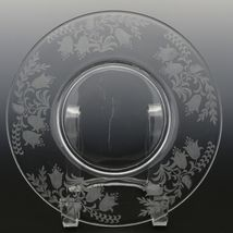 Tiffin Fuchsia Elegant Glass Plate Luncheon Plates a set of 8 image 5