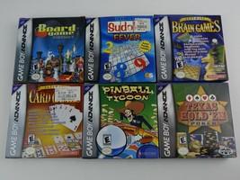 Lot 6 Game Boy Advance Games w/ Boxes Pinball Cards Pinball Poker Sudoku... - $36.64