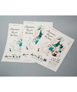 3 x Moomin Exhibition Tove Jansson Tokyo Flyer 2019 Limited Mini Poster A4 - $17.82