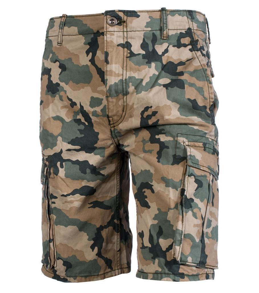 Levi's Men's Premium Cotton Ace Twill Cargo Shorts Relaxed Fit Camo 124630001
