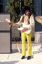 Jimi Hendrix Color 1970 on stage with guitar 18x24 Poster - $23.99