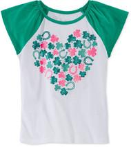 Epic Threads Little Girls' Shamrock Heart T-Shirt, Bright White, Size 6 - $8.99