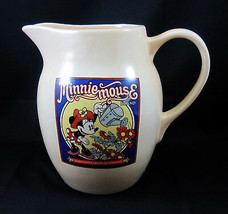 Minnie Mouse Treasure Craft Water Lemonade Pitcher Walt Disney Ceramic - $29.99