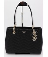 NWT Kate Spade New York Reese Park Black Quilted Leather Courtnee Should... - $228.00