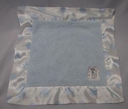 Little Giraffe Baby Security Blanket Blanky Blankie Blue White Satin Polka Dot - $31.67
