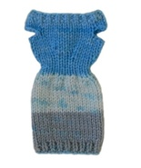 Barbie Doll Clothes Knit Multi-Color Off Shoulder Sweater Dress Handmade - $6.99