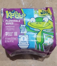 Kandoo Kids Flushable Wipes Sensitive 150 Wipe 3 Resealable Packs of 50 Wipes