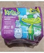 Kandoo Kids Flushable Wipes Sensitive 150 Wipe 3 Resealable Packs of 50 ... - $8.50