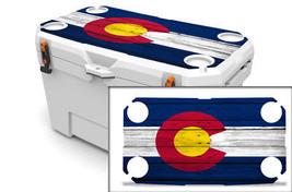 "Ozark Trail Wrap ""Fits 73qt Cooler"" 24mil Skin Lid Kit Colorado Flag Wood - $35.95"