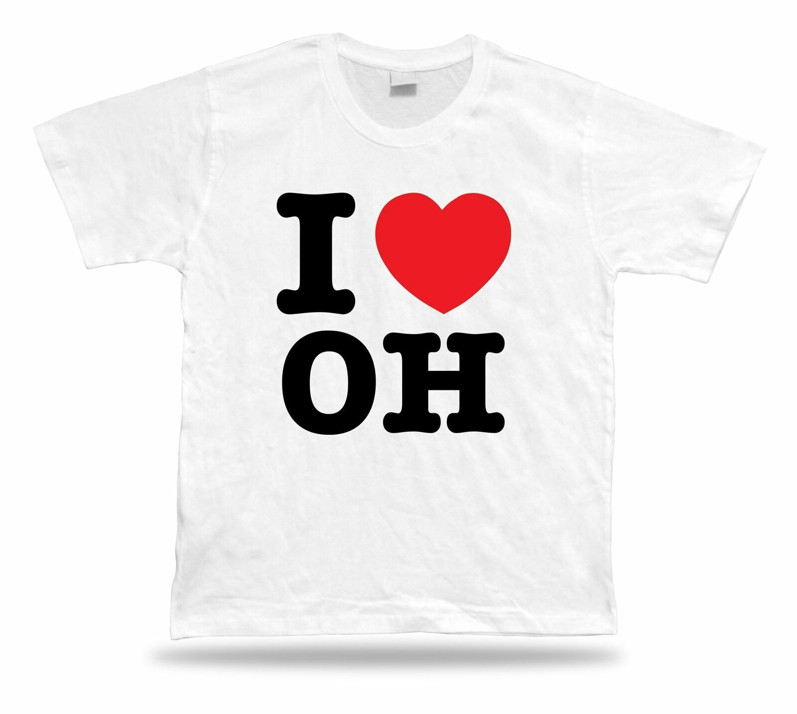 Primary image for I LOVE OH Ohio t-shirt heart Buckeye Cleveland Rocks Lake Erie Cavalier browns