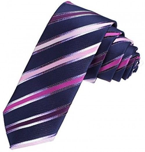 DAE7A04B Blue Wholesale Thin Necktie Woven Microfiber Perfect Contemporary Tie