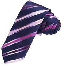 DAE7A04B Blue Wholesale Thin Necktie Woven Microfiber Perfect Contempora... - $18.45