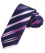 DAE7A04B Blue Wholesale Thin Necktie Woven Microfiber Perfect Contempora... - $24.51 CAD