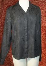 KORET black wrinkle polyester long sleeve blouse 16 (T45-03G8G) image 1