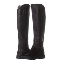 Franco Sarto Henrietta Knee High Boots 319, Black Leather, 6 US / 36 EU - $54.71