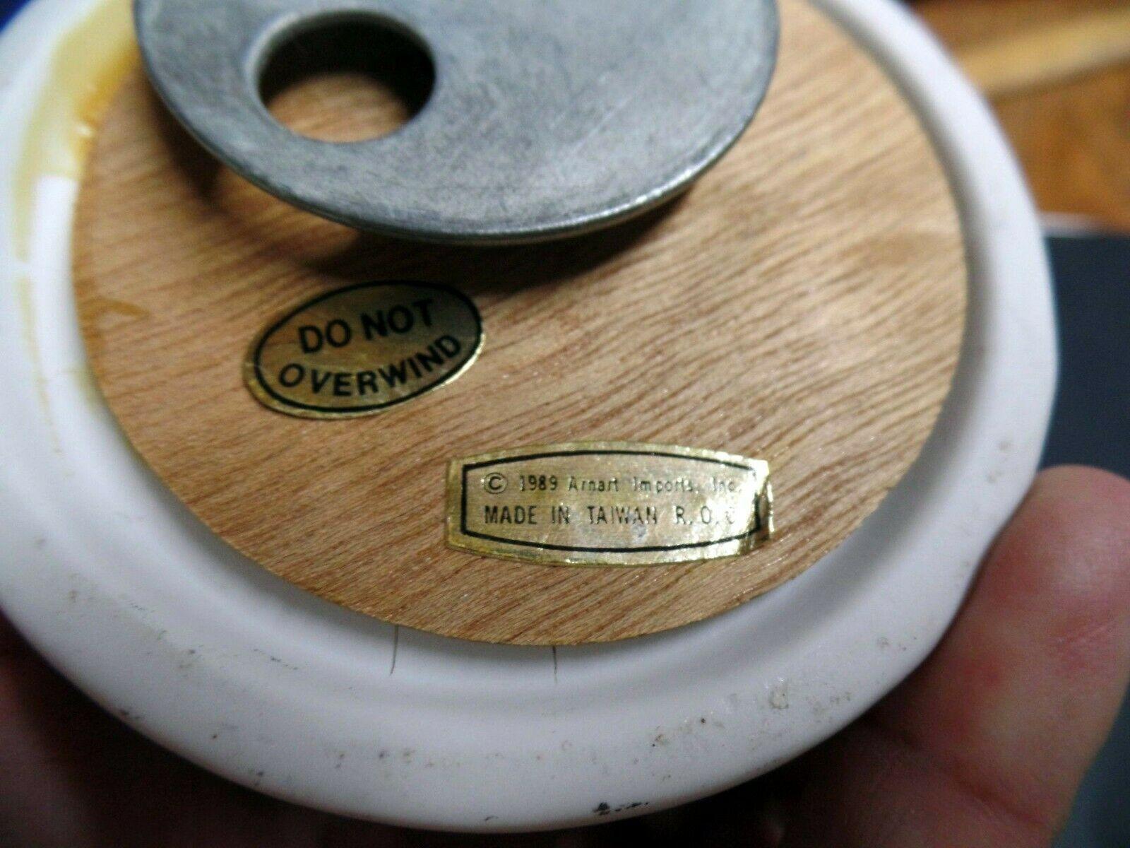 Arnart Gorham Bird bisque porcelain music box pair image 5