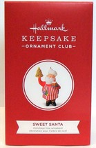 2018 Hallmark Keepsake Sweet Santa Ornament Club Christmas Tree Cookie Tower - $24.90