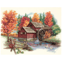 "Dimensions Counted Cross Stitch Kit 14""X11""-Glory Of Autumn (14 Count) - $20.96"