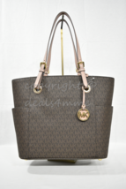 NWT Michael Kors Jet Set East West Signature Travel Large Tote in Brown ... - $169.00