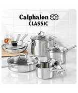 Calphalon Classic Pots And Pans Set. 10-Piece Cookware Set. Stainless Steel - $188.99
