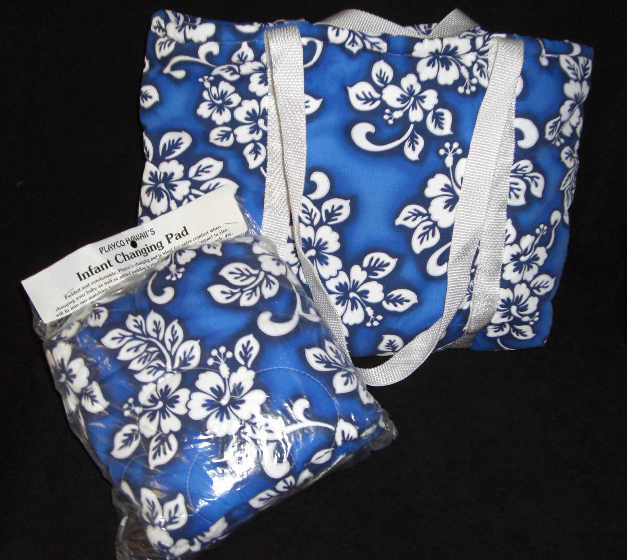 EKE DIAPER BAG Blue Cotton with Matching Change Pad NWT