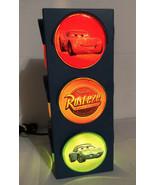 Disney Pixar Cars Lightning McQueen Mater Rusteeze Stop Light Traffic Ni... - $28.84
