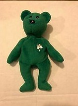 """Beanie Baby Erin the Green Bear 9"""" PE Pellets TY 1993 Missing Swing Tag - $4.55"""