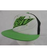 Mtn Dew Snapback Adjustable Flatbill Hat Lid 3D Embroidered Logo  - $12.86