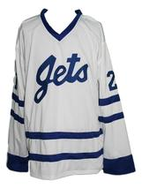 Custom Name # Johnstown Jets Retro Hockey Jersey New White Carlson #21 Any Size image 3
