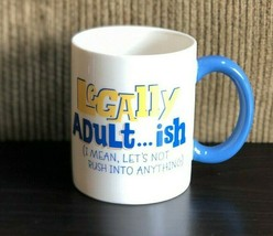 "Legally Adult Adult..ish Coffee Tea Mug Cup Hallmark Birthday Gift 4"" Tall - $10.39"