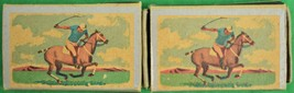 Pair of Ohio Blue Tip Polo Matchbook 1955 - $50.00