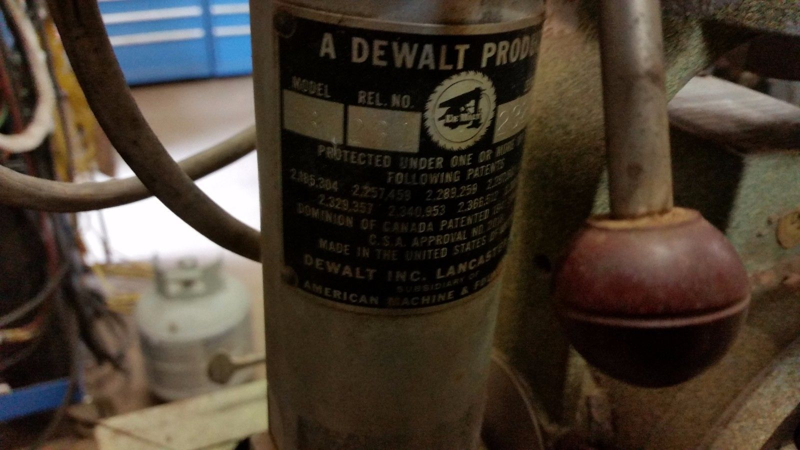 AMF DEWALT mini size Radial Arm Saw Model MBF