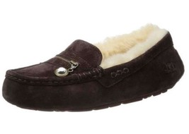 Women's UGG Australia ANSLEY CHARM Moccasin Loafer Suede Java Chocolate US 5.0 - $87.32