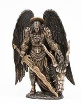 St. Michael Killing Dragon Statue 10.75 Inch Figurine by Pacific Giftware - $65.99