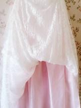 White Tulle Lace Maxi Long Skirt White Wedding Tulle Skirt 4XL Plus Size image 6