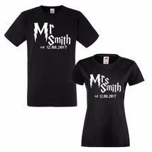 Mr and Mrs Personalised Surname T shirts! Harry Potter. - $29.39