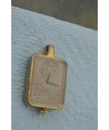RARE Vintage ''EASTMAN'' Faux Swiss Gold Ingot Pendant Watch - $28.01