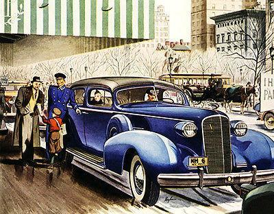 Primary image for 1937 Cadillac Fleetwood Series 75 Five Passenger Promotional Advertising Poster