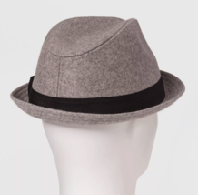 NEW Goodfellow & Co Men's Grey Polyester Wool Blend Fedora M/L or L/XL image 2