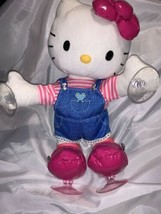 Hello Kitty Sanrio MUSICAL DANCE TIME plush doll w Suction Cups 2014 Works Great - $32.66