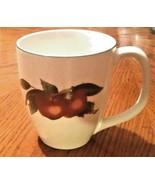 Cades Creek Genuine Stoneware Coffee Mug/Cup Apple & Flower Pattern New - $18.80