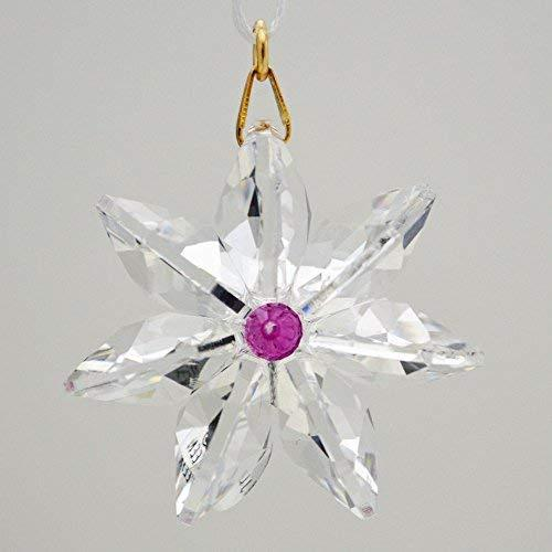 J'Leen Clear Crystal Daisy Fuchsia Center