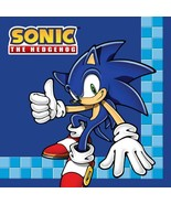 Sonic the Hedgehog Dessert Cake Napkins Birthday Party 20 Per Package NEW - $5.20