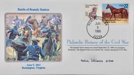 June 9 1990 Philatelic History Civil War Battle Brandy Station Quarter H... - $10.99