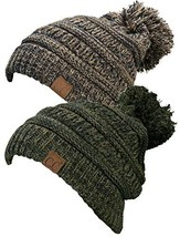 Funky Junque C.C. Chunky Marled Cable Knit (2 Pack - Brown Mix & Green Mix) - $35.42