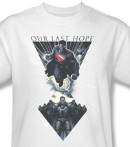 Superman T-shirt Our Last Hope white cotton tee Man of Steel DC comics SM2069 image 1