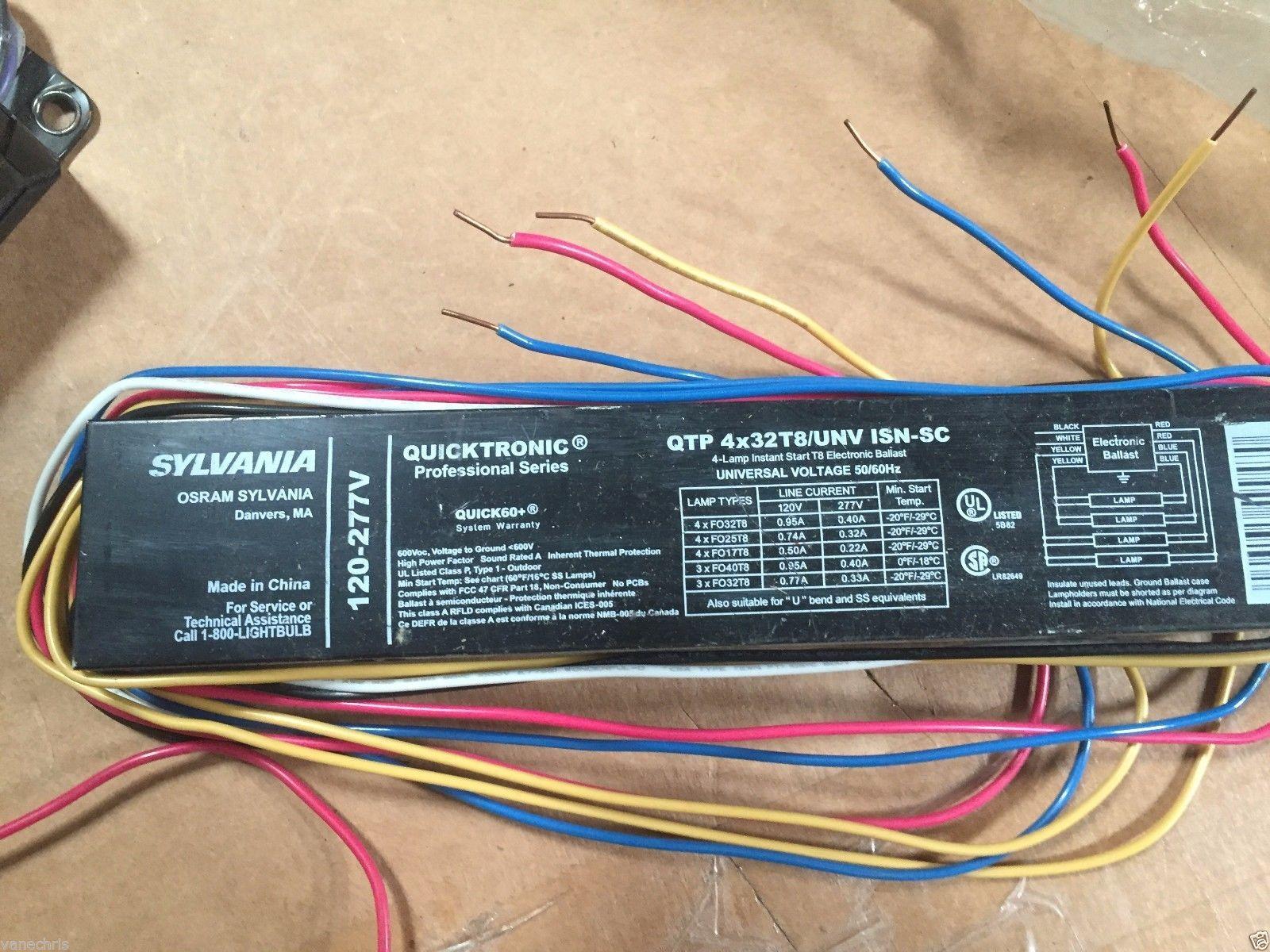 Sylvania Qt 2x32 T8 277 Isn Sc Instant Start And 50 Similar Items Osram Ballast Wiring Diagram 277v For 2 Fo32 Lamps