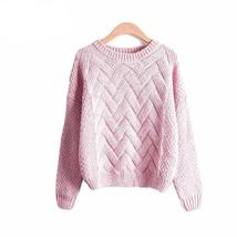 Women Winter Ribbed Thick Loose Knitted Sweater - $23.14
