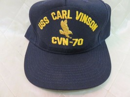 USS Carl Vinson CVN-70 Hat Navy Blue Adjustable Hat Military Collectible... - $14.55