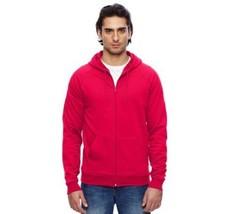 ORIGINAL American Apparel California Fleece Zip Up Hoodie Classic Red 54... - $21.69